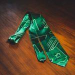 cravatta vintage verde 2